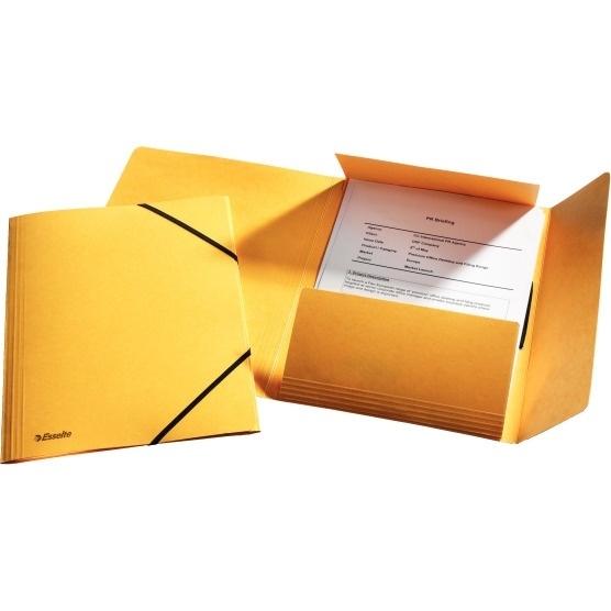 Teczka kartonowa z gumkami Esselte żółta