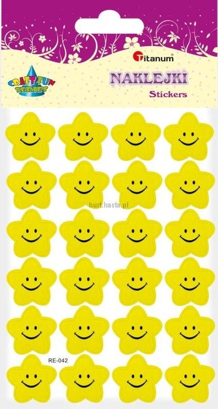 Naklejk kwiatek uśmiech żółty A`10