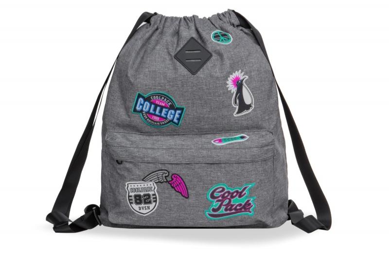 Plecak sportowy Coolpack Urban Girls Badges Grey