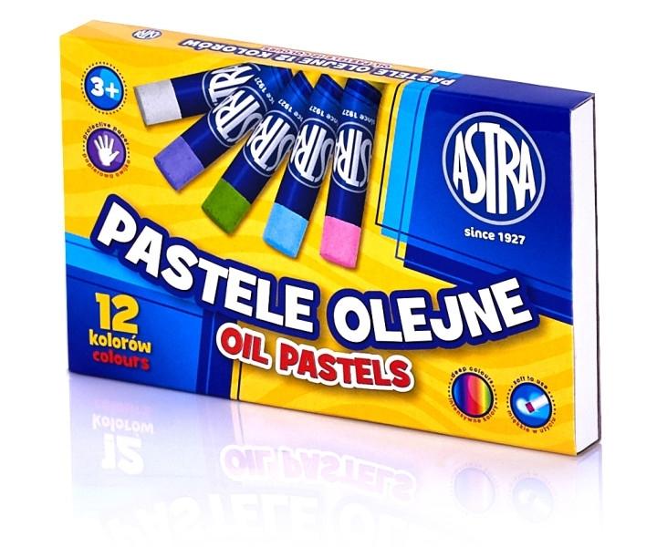 Kredki pastelowe olejne 12 kolorów Astra