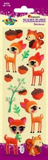 Naklejki dekoracyjne zwierzęta leśne 1-6cm 13szt.