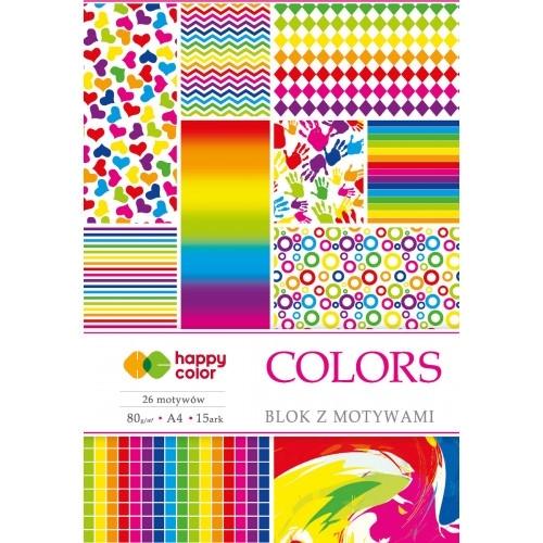 Happy Color blok z motywem Colors A4 15 ark