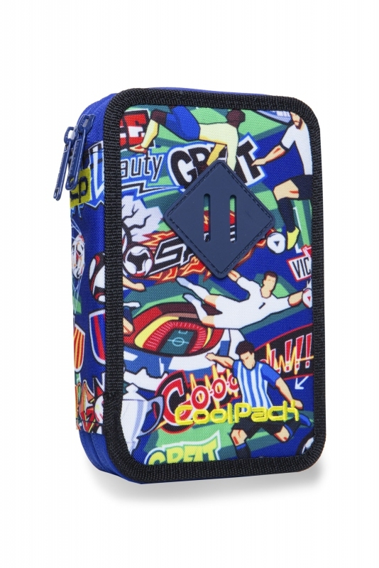 Piórnik podw.z wyp.Coolpack Jumper2 Football Carto