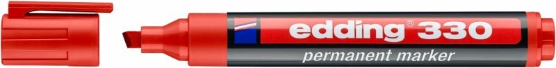Marker permanentny ścięta 330 czerwony Edding