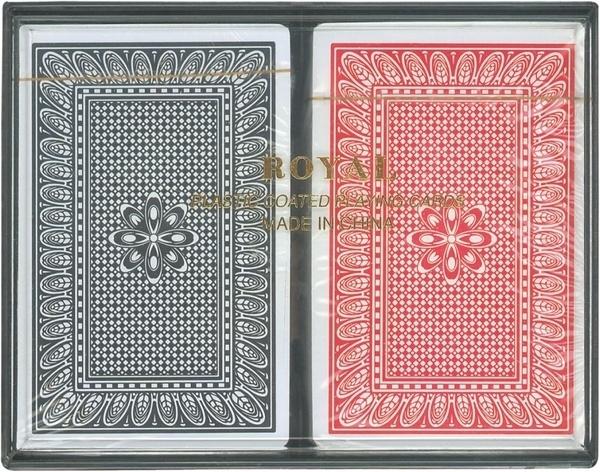 Gry karty 2 talie plastikowe opakowanie Royal