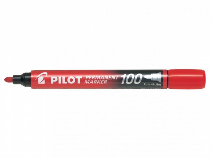 Marker permanentny okrągła końcówka SCA-100 czerwony Pilot