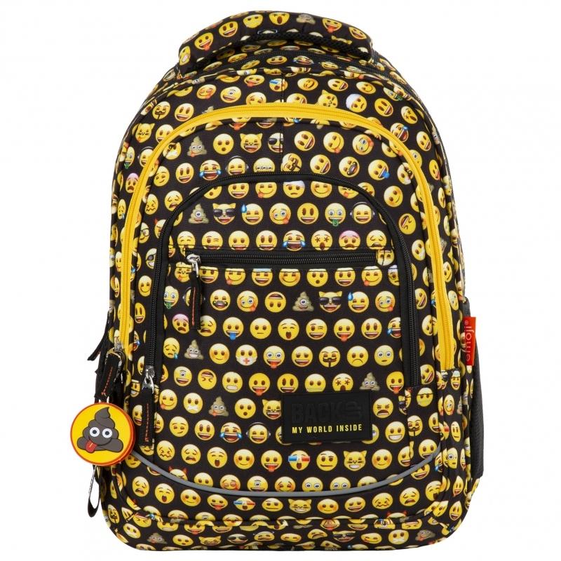 Plecak młodzieżowy BackUP 2 model X86 Emoji