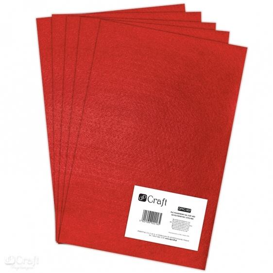 Filc poliestrowy A4 5szt czerwony Dalprint