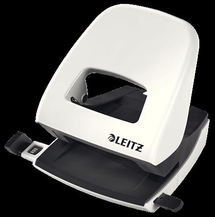 Dziurkacz biurowy Leitz 5008 Nexxt Wow 30 kartek biały perłowy