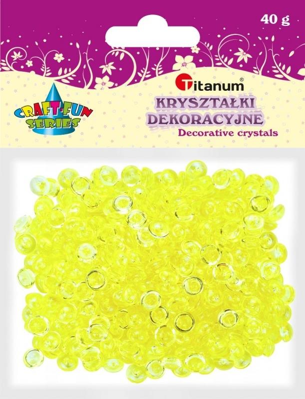 Kryształki ozdobne plastikowe jasno żółte 40g