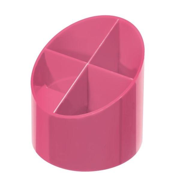 Przybornik na biurko 4 komorowy różowy Herlitz