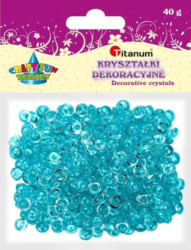 Kryształki ozdobne plastikowe turkusowe 40g