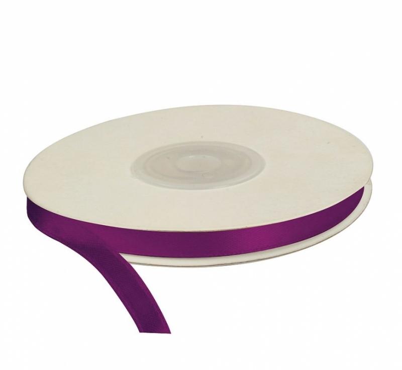 Wstążka satynowa dekoracyjna purpura 6mm/25m
