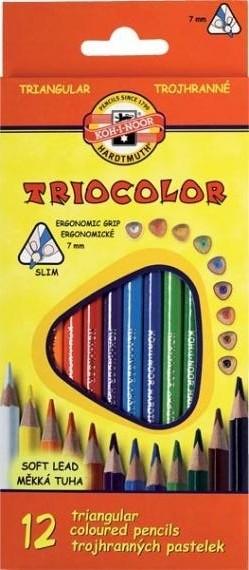 Kredki ołówkowe trójkątne 12k.Triocolor Koh-I-Noor