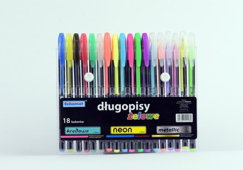 Długopis żelowy 18 kolorów 4180 Schemat