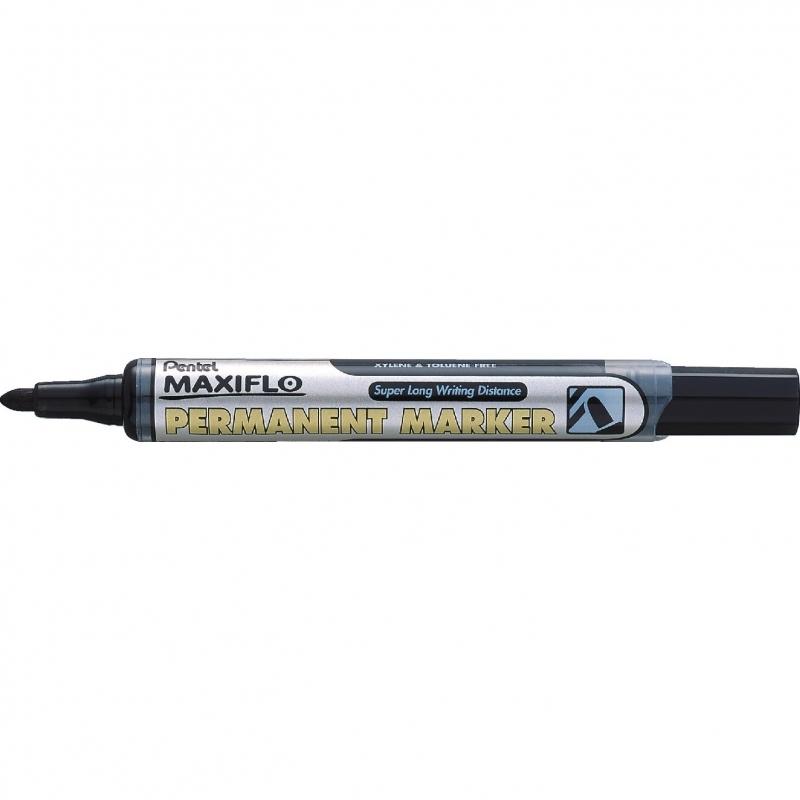 Marker permanentny okrągły z tłoczkiem Maxiflo Pentel czarny