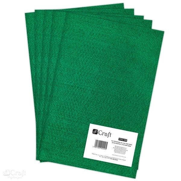 Filc poliestrowy A4 5szt ciemno zielony Dalprint