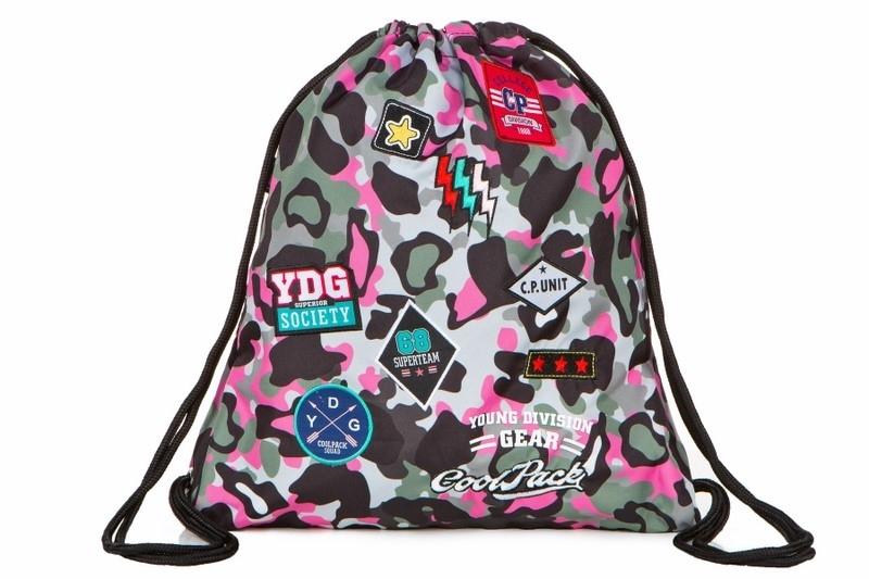 Worek na obuwie Coolpack Sprint Camo Pink