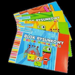 Blok rysunkowy kolorowy A4 20 kartek