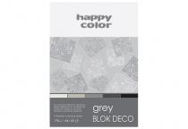 Blok techniczny DECO A4/20 170g 5 odcieni szaro-czarnych