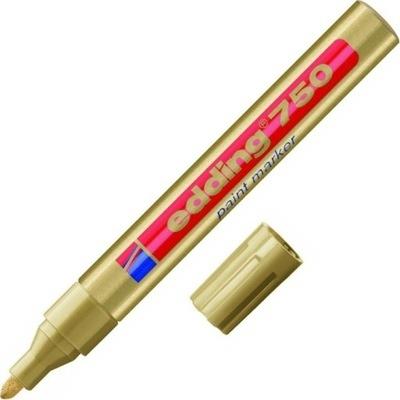 Marker lakierowy 2,4mm Edding, końcowka okrągła złoty