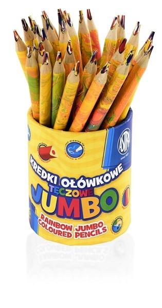 Kredka ołówkowa tęczowe Jumbo Astra