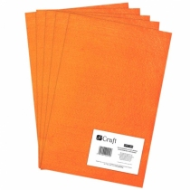 Filc poliestrowy A4 pomarańczowy 5 arkuszy Dalprint
