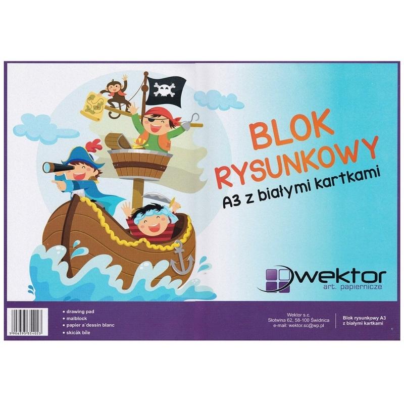 Blok rysunkowy A3 20 kartek biały Wektor