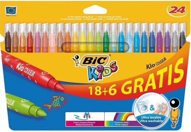 Flamastry 24 kolory Bic