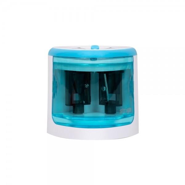 Temperówka elektryczna podwójna Strigo niebieska