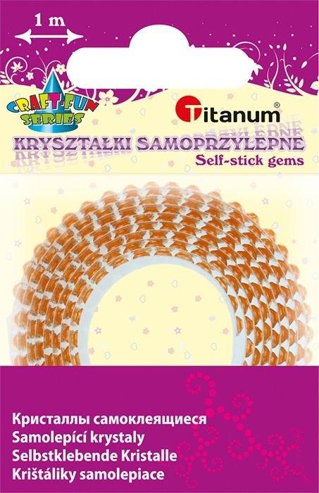 Kryształki na taśmie samoprzylepnej pomarańcz 12mm/1m