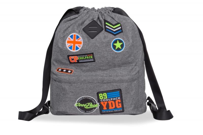 Plecak sportowy Coolpack Urban Badges Grey