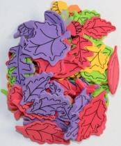 Dekoracje piankowe kreatywne liście 18-45mm 80szt
