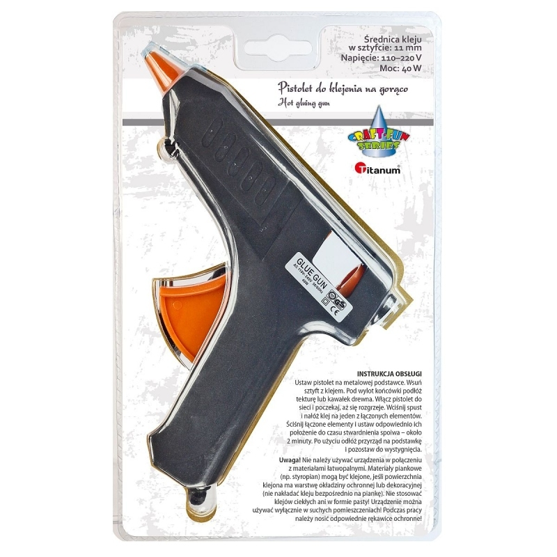 Pistolet do kleju na gorąco 40W 11mm