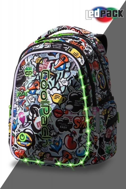 Plecak młodzieżowy Coolpack Joy M Graffiti Led