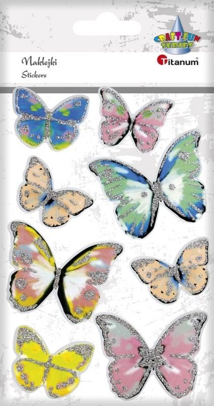 Naklejki do dekoracji motyle 3D A`8szt