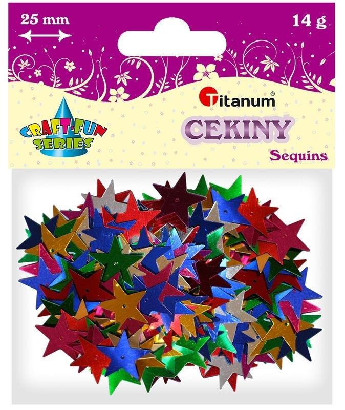 Cekiny gwiazdki 25mm 14g mix kolor