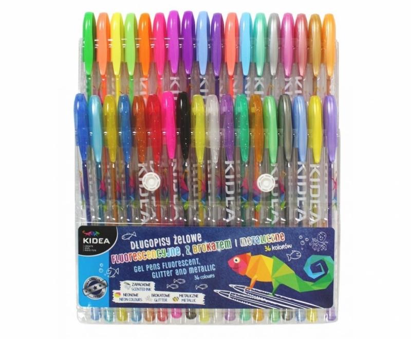 Długopis żelowy 36-kolorów Kidea Derform