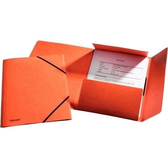 Teczka kartonowa z gumkami Esselte pomarańczowa