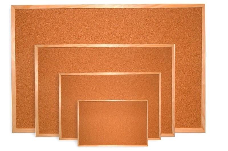 Tablica korkowa w ramie drewnianej  90x60 cm