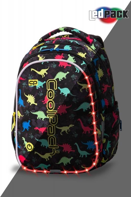 Plecak młodzieżowy Coolpack Joy M Dinosaurs Led