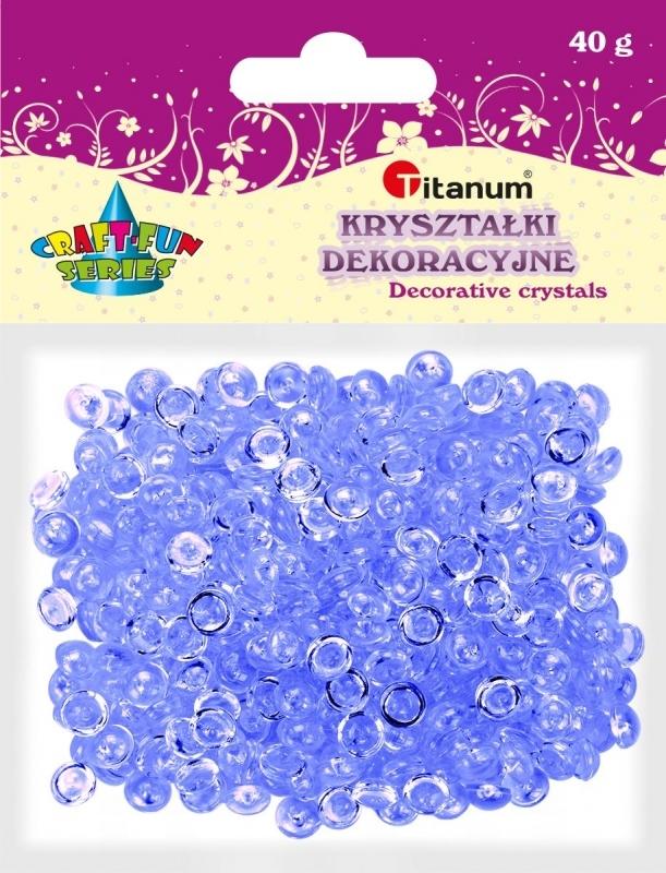 Kryształki ozdobne plastikowe granatowe 40g