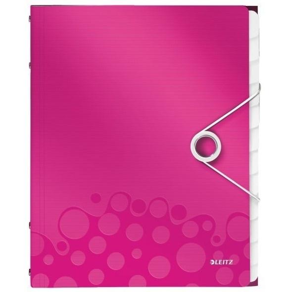 Teczka 12 przegródek A4 200k różowa Leitz Wow