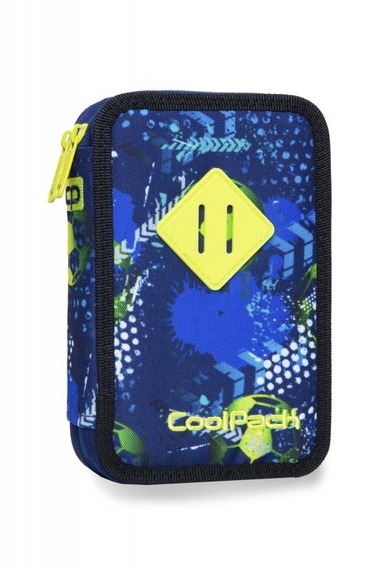 Piórnik podw.z wyp.Coolpack Jumper 2 Football Blue
