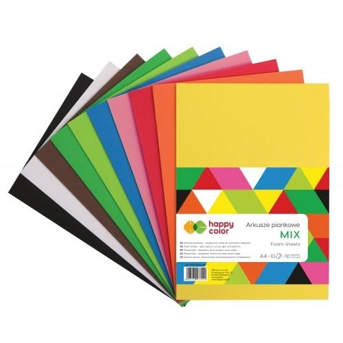 Arkusz piankowy A4 op.10szt mix kolor Hapy Color