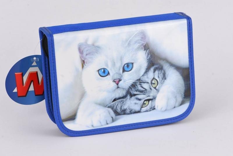 Piórnik jednokomo.  bez wyp. niebieski Koty War371