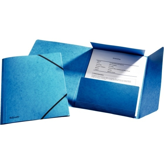 Teczka kartonowa z gumkami Esselte niebieska