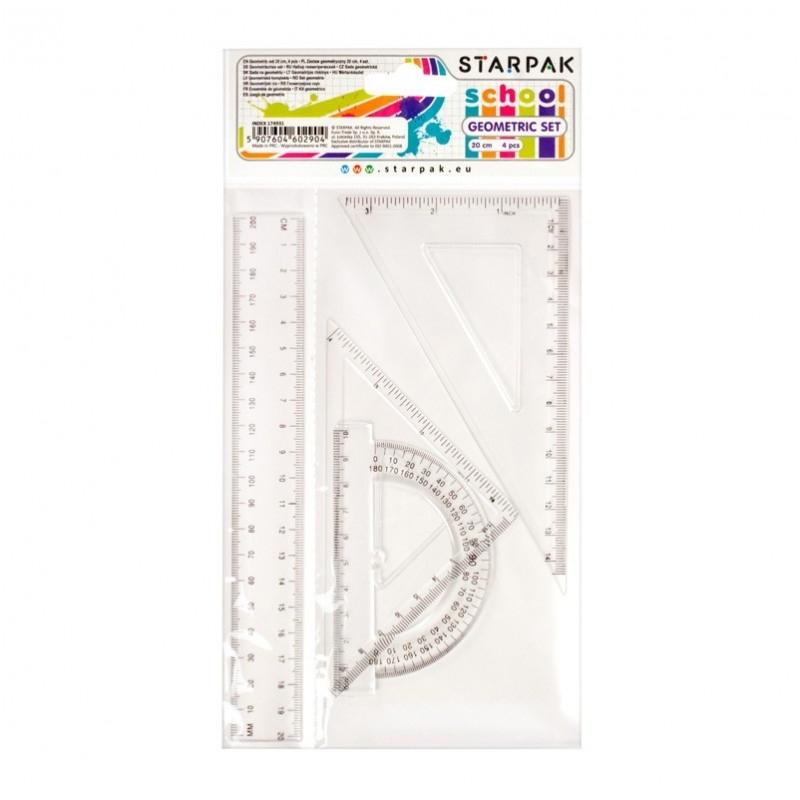 Komplet geometryczny 20cm 4-el. Starpak