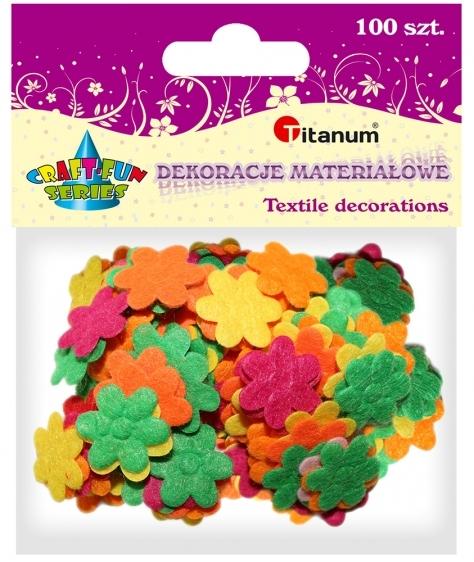Dekoracje materiałowe kwiatki 20mm 100szt