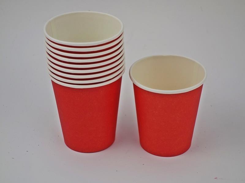 Kubek papierowy kolor czerwony 270ml A`10